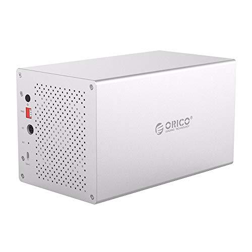 AOEIUV Caja de Disco Duro SATA a USB C 3.0 3.5 'Compatible con 4 * 10 TB HHD Raid System Caja de Disco Duro de Alta Velocidad de 5 Gbps con Ventilador de enfriamiento de Silencio