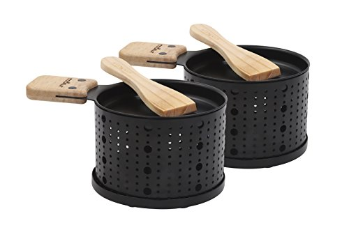 COOKUT Lumi – EIN Kerzenschaber – Schmelzen Sie Ihre Käse in 3 Minuten – zum Tisch, vor dem Fernsehen oder sogar Picknick, Holzspachtel inklusive, ohne Strom, 2 Geräte