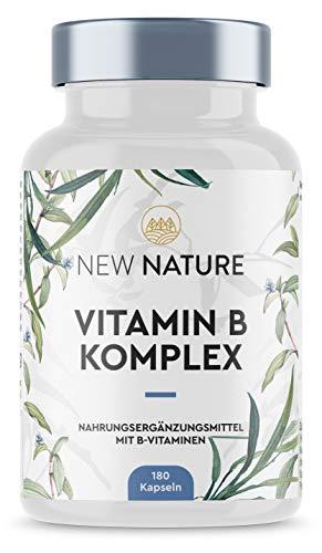 Vitamin B Immunsystem Komplex - Hochdosierter Vitamin B Booster, enthält Vitamin B6 und B12, die das Immunsystem unterstützen - 180 Kapseln