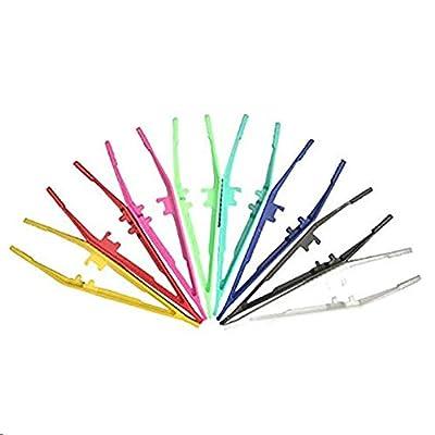 24 Pcs Tweezers First Aid Disposable Plastic Tweezers Forceps Tweezers from ROLeDai