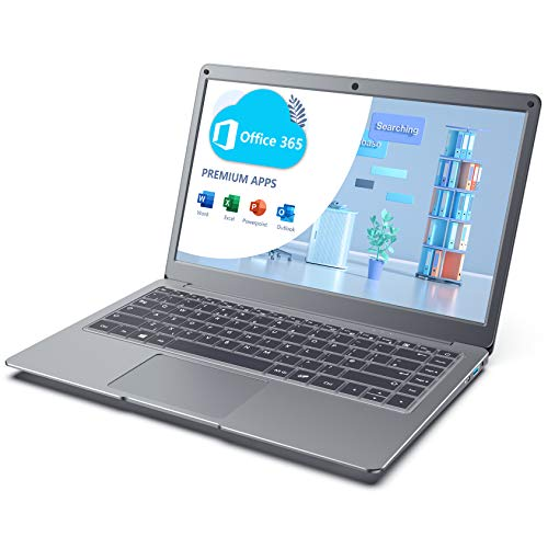 Jumper Laptop con Microsoft Office 365, 13.3-Pulgadas FHD Ordenador, 4GB RAM 64GB eMMC, Doble-Banda WiFi, Windows 10, USB 3.0, Soporta 128GB Micro SD y 1TB SSD Expansión