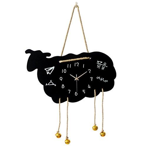 Orologio da parete Pecora personalità Creativo Orologio al Quarzo Bambino Decorazione Camera da Letto Muto Tavolo appendente