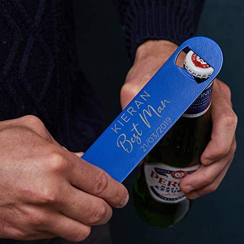 Personalisierter Flaschenöffner für Trauzeugen - Geschenk vom Hochzeitspaar - Hochzeit Gastgeschenk mit Gravur - Polterabend Geschenk - Bar Blade Hausbar Kellerbar Zubehör mit Namensgravur