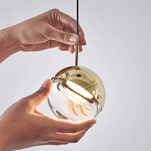 ZANYUYU Candelabro perfecto dorado giratorio bola de cristal lámpara colgante diámetro 10 cm nórdico moderno simple bar restaurante cafetería tienda cabecera estudio