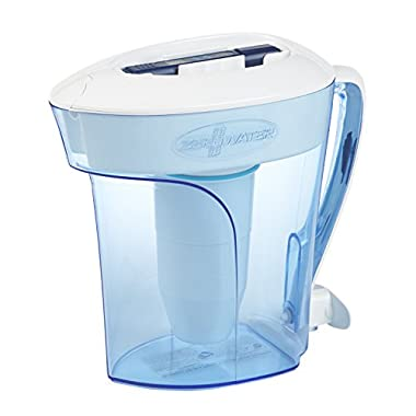 ZeroWater, 10 Cup Pitcher with Free Water Quality Meter, BPA-Free, NSF Certified to Reduce Lead and Other Heavy Metals