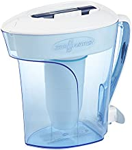 ZeroWater ZP-010, 10 Cup Water Filter Pitcher with Water Quality Meter, Blue/White