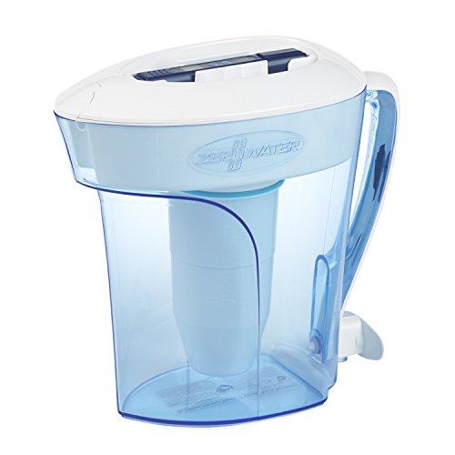 ZeroWater Wasserfilter 2,4L , Gratis Wasserqualitätsmessgerät, BPA-frei und zertifiziert zur Reduzierung der Menge von Blei und anderen Schwermetallen, Wasserfilterpatrone inklusive