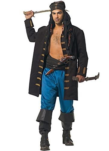 chiber Disfraces Disfraz Pirata del Caribe Jack para Hombre, Talla nica (L/XL/XXL)