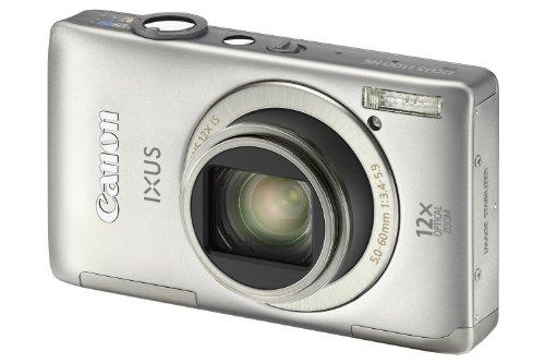 Canon IXUS 1100 HS Digitalkamera (12 MP, 12-fach opt. Zoom, 8,1cm (3,2 Zoll) Display, bildstabilisiert) silber