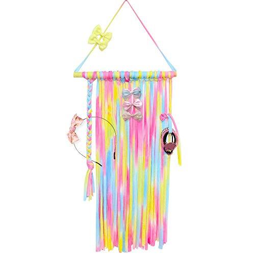 Godagoda Kinder Haarschmuck Aufbewahrung Handgemacht DIY Bunt Wang Tür Aufhängend Seil Organizer für Haarclip