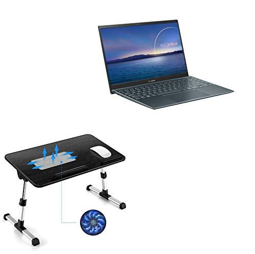 Suporte e suporte BoxWave para ASUS ZenBook 14 UM425UA [suporte de bandeja para laptop de madeira verdadeira] mesa para trabalho confortável na cama. Para ASUS ZenBook 14 UM425UA – Preto