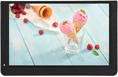 Vipxyc 1080P Mini TV digital, portátil de 12 pulgadas 16:9 LED Televisión con soporte y cargador de coche de 12 V, reproductor de televisión digital DVB-T/T2, compatible con MKV, MOV, AVI, WMV, MP4