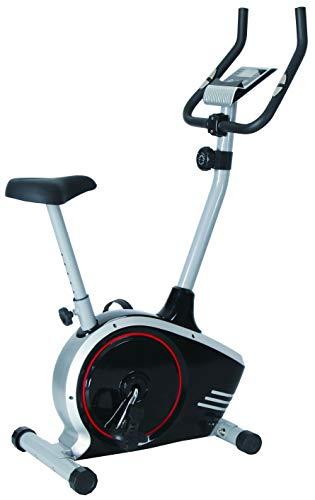 Bicicleta estática Winch W.1, modelo fácil, bicicleta de fitness, bicicleta de resistencia, con ordenador de entrenamiento y sensores de pulso de mano