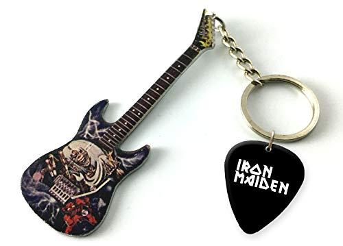 Music Legends Iron Maiden Number of The Beast Metal US Gitarren-Keyring & Matching Plektrum