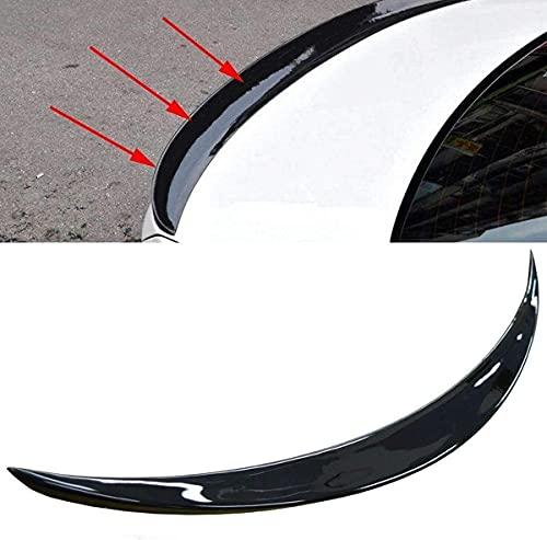 ERBV Alerón de Maleta, alerón Trasero Negro Brillante para Maletero, alas de Labios aptas para BMW 3 Series F30 P-Art 2012 + Tiras de alerón de Labios