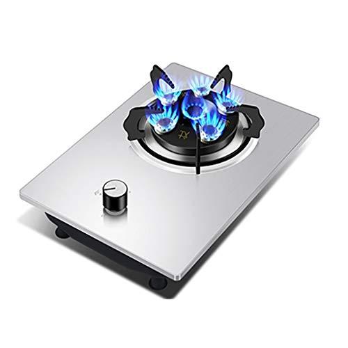 HJJ Table de Cuisson à gaz de brûleur de 42cm en Verre intégré ou en Acier Inoxydable et en émail respectueux de l'environnement et Durable, avec Kit GPL et FFD [Classe énergétique A] (Color : C)