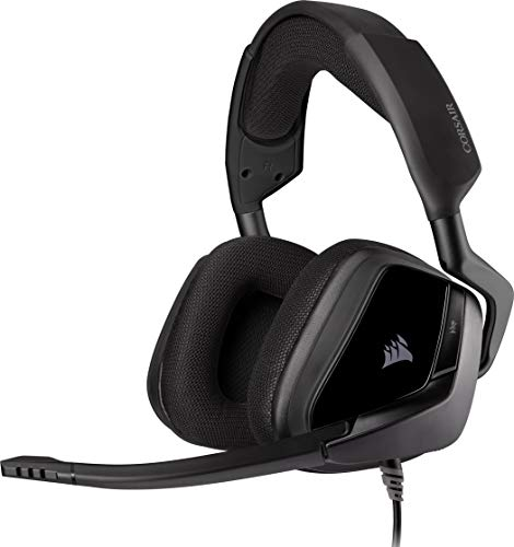 Corsair VOID ELITE Surround Casque de Gaming (Son surround 7.1, Microphone omnidirectionnel optimisé avec PC, PS4, Xbox One, Switch et mobiles Compatibilité) Noir