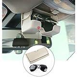Kwak's Caja de Gafas para Gafas de Sol para Coche Compatible con 14-19 BMW X5 X6 F15 F16 Caja de Almacenamiento de Gafas,in ABS(Beige)