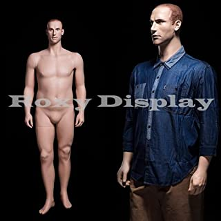 (MZ-PLUSMAN2) Realistic Male Mannequin, Mid-Age Looking Male Mannequin, Standing Pose,Molded Hair.