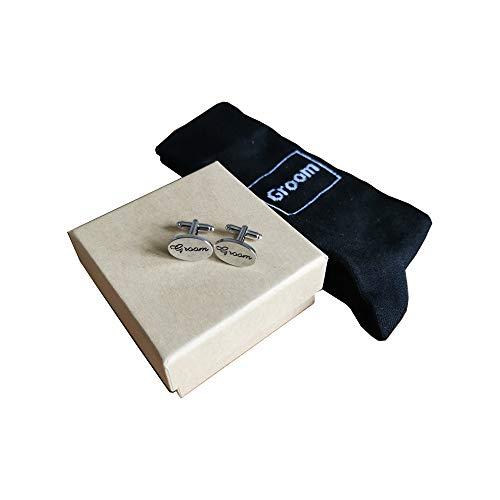 Love Rustic Set de regalo de calcetines y gemelos para el mejor...