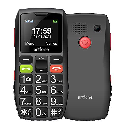 artfone GSM Big Button Mobile Phone for Elderly, Dual SIM Unlocked Senior...