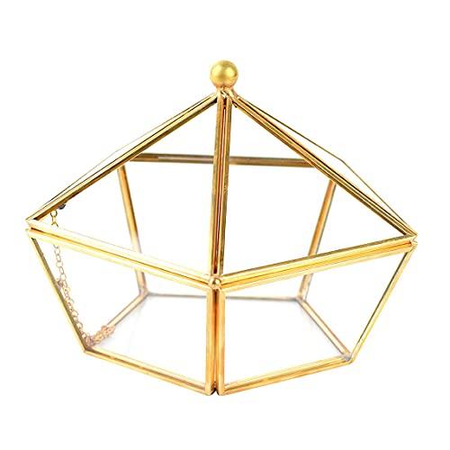 Kuyoly Tazón de cristal Desgaussing Bowl Joyeria Caja de almacenamiento de Purificación Tazón Desgaussing Box Pentagonal Bowl Gran Capacidad