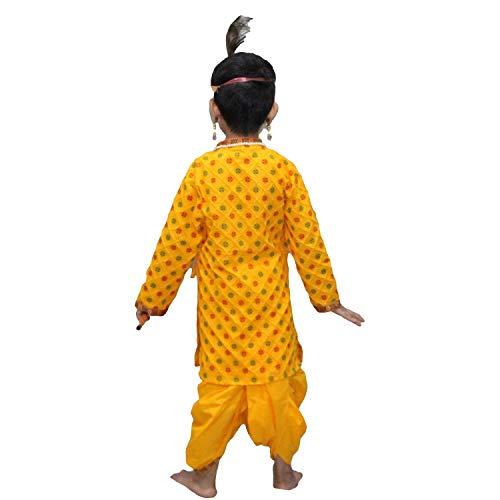Kaku Fancy Dresses Krishna Costume for Kids | Kids Krishna Dress for Janmashtami/Kanha/Krishnaleela/Mythological Character Krishna Fancy Dress... 6