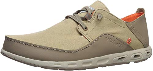 Columbia PFG Men's Bahama Vent Relaxed Laced Boat Shoe, Tan/Tangy Orange, 10 M US