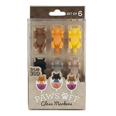 TrueZoo Paws Off Glass Markers (Set of 6) by