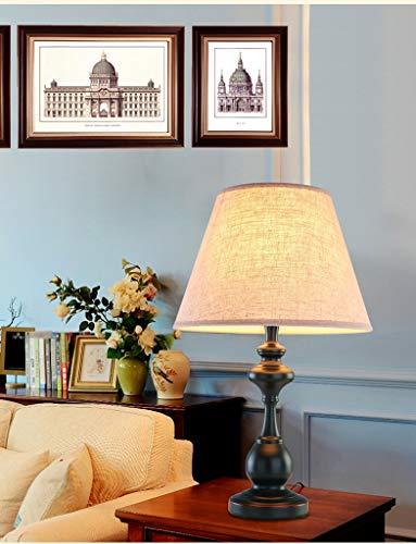 Intelligente, Amerikaanse tafellamp met dimbare dimbare sokkel van smeedijzer, kan op afstand worden bediend, E27-lamp van pvc, antislip, slaapkamer, woonkamer, leeslamp.