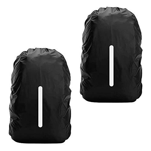 Wasserdichte Regenhülle für Rucksack, Regenschutz, wasserdicht, reflektierend, für Wandern, Camping, Reisen, Radfahren, 2 Stück