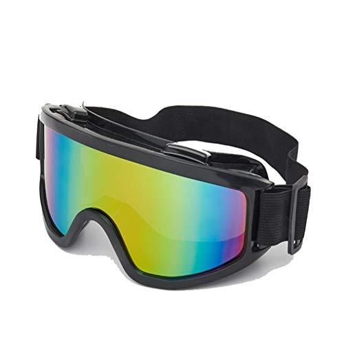 Gafas de Moto Unisex Lentes de una Pieza Lentes de Moto a Prueba de Viento y antiniebla Gafas de esquí Ciclismo Protección Protección Ojos