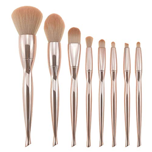 GUOCU 8pcs Make Up Pinsel Set professionelle Kosmetik Make-up Pinsel Brush Kit für Stiftung Augenbraue Eyeliner Einhorn Design Metallbürste(kein Paket) 8PCS