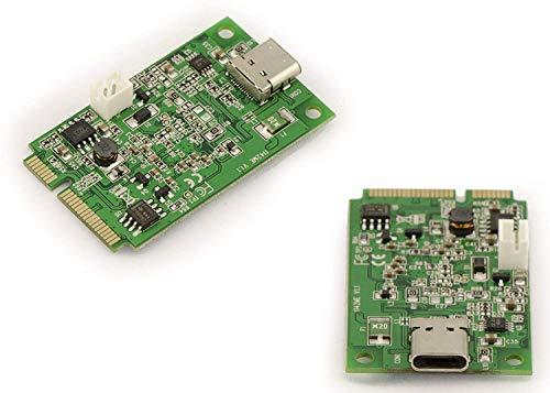 "Kalea-Informatique© Controller-Karte Mini PCI Express (MiniPCIE), USB 3.1 (""Superspeed+"" 10 Gbit/s), Port mPCIe USB 3.1 Typ C - max. Strom 3 A"
