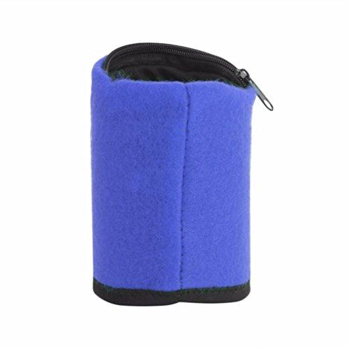 (イエローパンダ) リストバンド ウォレット コインケース 財布 ポケット付き フリーサイズ 男女兼用 ロング 青 ブルー