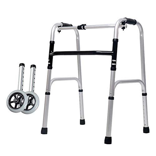 SXFYQ Walking Frame, opvouwbaar, lichtgewicht en stabiele aluminium walker, instelbare hoogte, geschikt voor senioren oudere mensen met een handicap.
