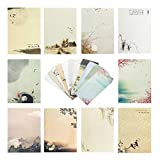 Stationary Paper and Envelopes Set,60PCS Stationary Set 40 stationery Papers + 20 Envelopes 10 Different Color Ink Painting Classic Vintage Antique Design With Tape.