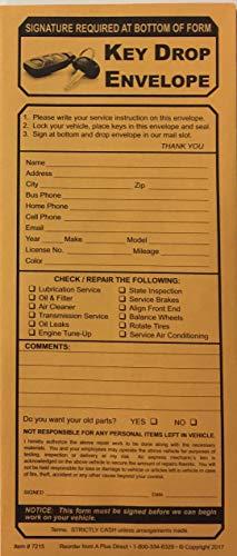 Key Drop Envelope #7215-500 Qty. (P1)
