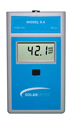 Solar Light Company, Inc Solarmeter Model 9.4 Standard Blue Light Meter - Measures 422-499nm with Range from 0-199.9 mW/cm², Light Blue