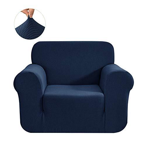 CHUN YI 1-Pezzo Elasticizzato Jacquard Copridivano Coprisofà Sofa Cover Jacquard per Casa Decorativa (Sedia, Blu)