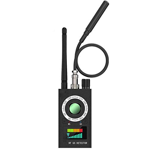 Detector De Cámara Oculta Multifunción, Rastreador De Señal GPS Buscador De Errores Rastreador Magnético RF, para Prevenir Sincero, Seguimiento, Posicionamiento, Tapping, Espía,Negro