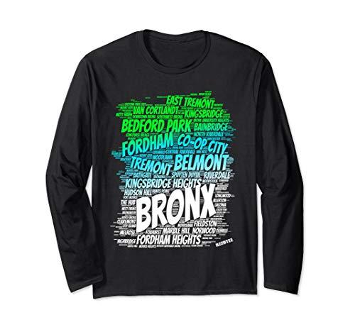 Boogie down Bronx new York city Pride Map area like a zoo Long Sleeve T-Shirt