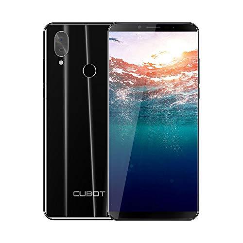 CUBOT X19 5.93 Pollici FHD+, 4G-LTE Smartphone, Android 9.0, Octa-Core 2.5GHz, 4000 mAh, 4GB RAM 64GB ROM, 5V/2A Type-C Ricarica Rapida, Face ID, Telecamera posteriore 16MP+2MP, Dual 4G SIM, Nero