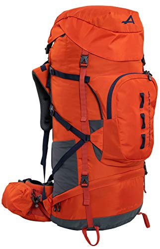 ALPS Mountaineering Red Tail Internal Frame Backpack 65L, Chili/Navy