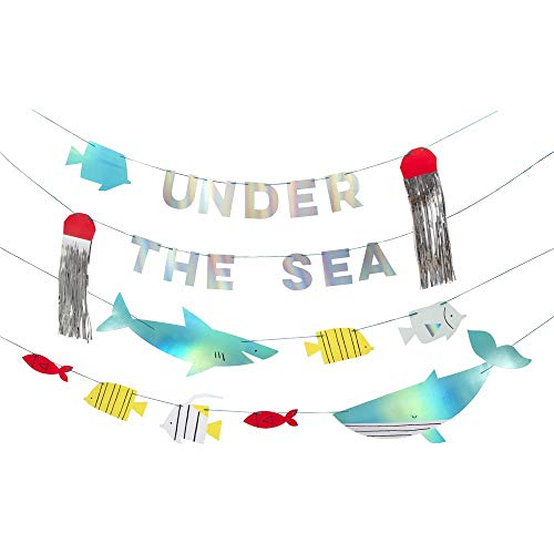 Meri Meri, Under The Sea Creature DIY Garland, Birthday Party Decorations - 8.25 Ft