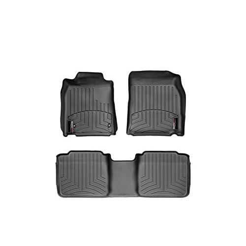 Black Custom Fit Carpet Floor Mats Front Rear Set Fit 2007-2012 Lexus ES350