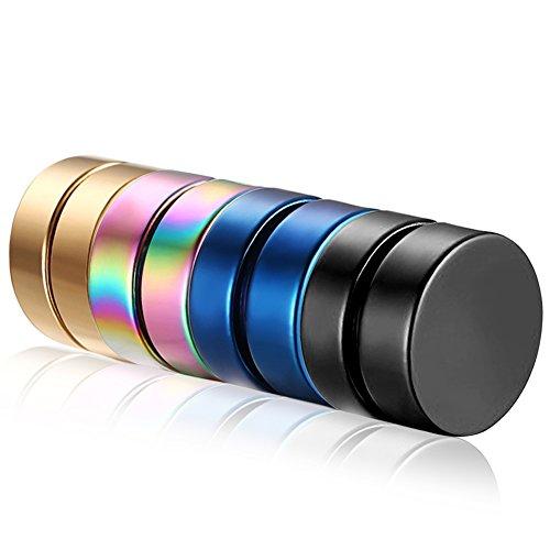 Flongo Pendientes de acero inoxidable Plug magnético magnético non-percé Punk Rock Fantasía Bijoux regalo opcional para mujer hombre