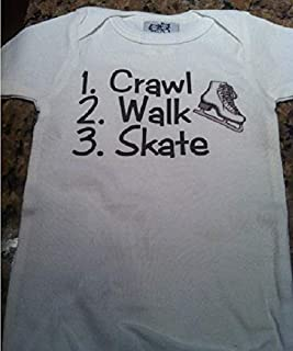 crawl walk skate ice skating infant one piece