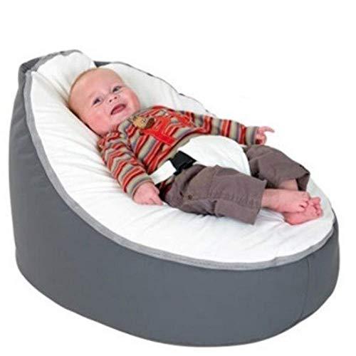 Bryights Puffs Pera Silla De Bebé Suave, Bolsa De Frijoles para Bebés, Funda De Cama Sin Relleno, Puf para Alimentar Al Bebé, Cama Cómoda con Cinturón para Protección De Seguridad-C