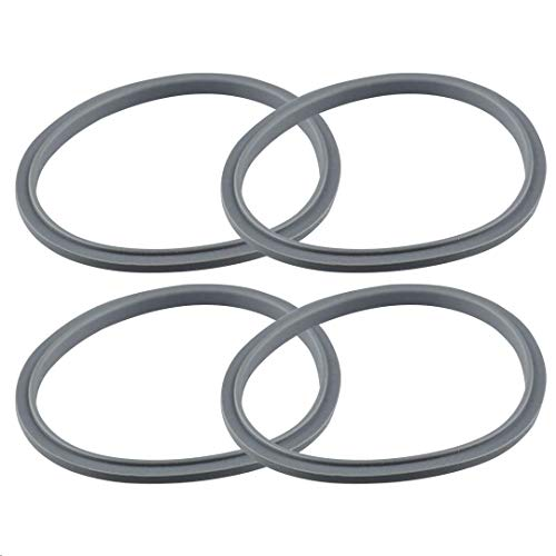 Feilifan Silicone Rubber Gaskets 4 Packs Blender Blade Replacement Parts For Original NutriBullet Pro 900w 600w NB-101B NB-101S NB-201 Juicer Seal Ring for NutriBullet Extractor Blade No Leakage
